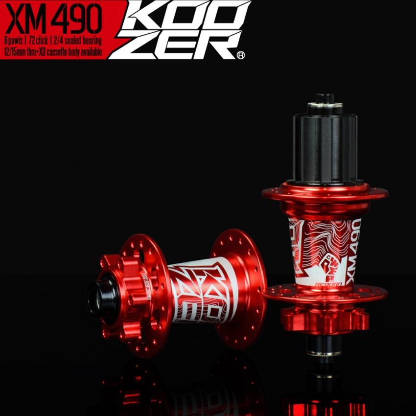 Koozer XM490 Sealed Bearing MTB Mountain Bike Hub Quick Release set hub 32H Disc Brake 9mm  15/12mm Thru Axle QR Bicycle Hubs-in Bicycle Hubs from Sports & Entertainment    1