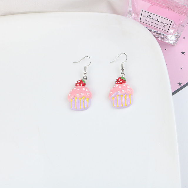 Cake Slice Earrings Mothers Day Gift from Daughter Kawaii Gifts for Girls Food Gifts for Her Mini Food Jewelry Eraser Earrings