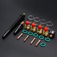 21pcs Tig Welding Torch Gas Lens Kit 4pcs 10 Glass Pyrex Cup With O Rings Set