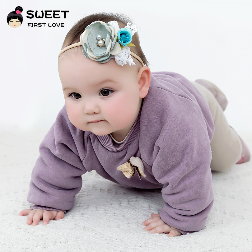 Kids Baby Girl Headwear Toddler Lace Pearl Flower Headband Hair Band Headwear lq