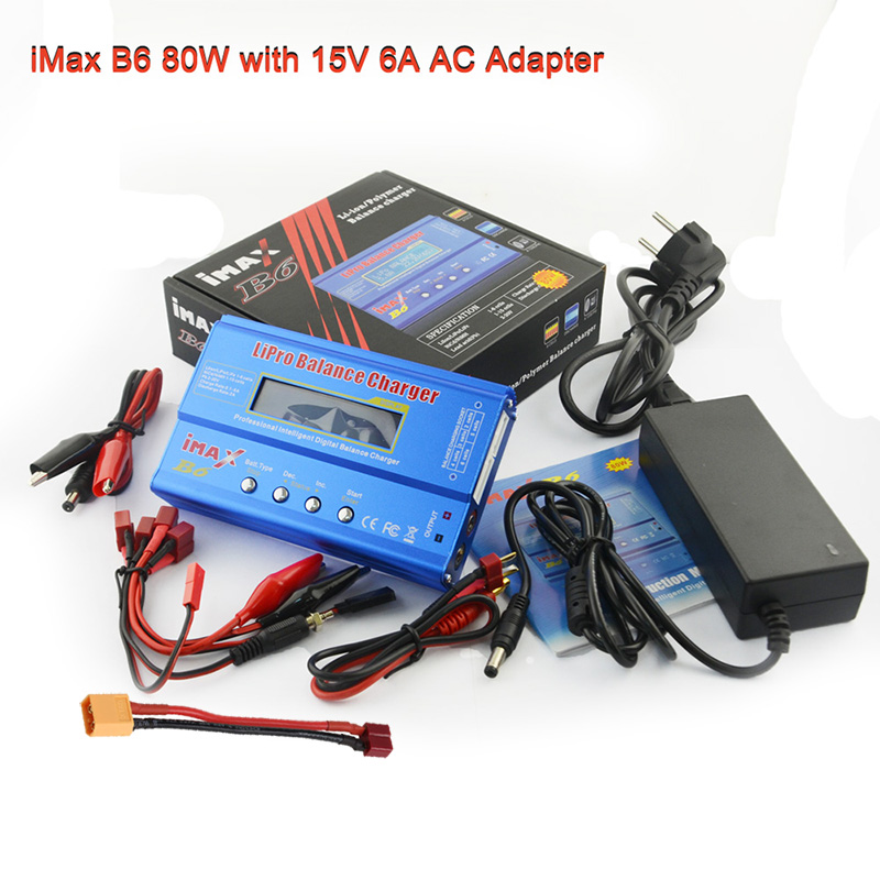 HTRC IMAX B6 Balance Charger Discharger For RC Helicopter Re-peak NIMH/NICD LCD Smart Battery Charger