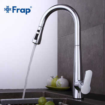 Frap New Kitchen Faucets Single Handle Pull Out Kitchen Tap Single Hole  Handle Swivel Sink Mixer Tap torneira cozinha Y40061