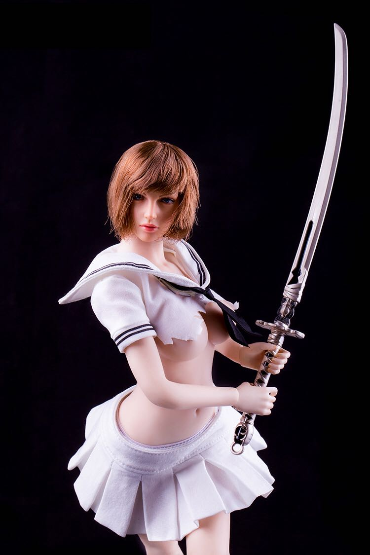 【IN STOCK】1//6 Nier Automata YoRHa No.2 Type B Head COSTUME set with 3 swords