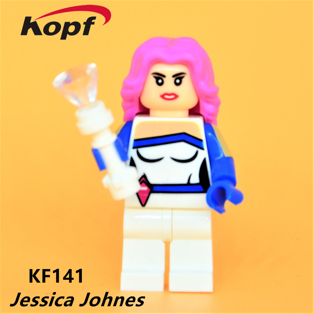 Single Sale Super Heroes Jessica Jones Nightmare Batman Mystique Bricks Model Building Blocks Collection Toys for children KF141 single sale pirate suit batman bruce wayne classic tv batcave super heroes minifigures model building blocks kids toys gifts