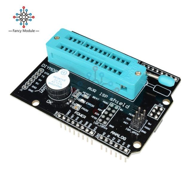 AVR ISP シールド燃焼ブートローダプログラマ Atmega328P ブートローダモジュールブザーと LED インジケータ Arduino の Uno R3 1