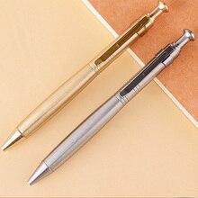 1 шт. ручная работа нержавеющая сталь Ручка твердый портативный карманный зажим для нажатия гелевая ручка Самозащита EDC шесть-Arrise ручка 53 г