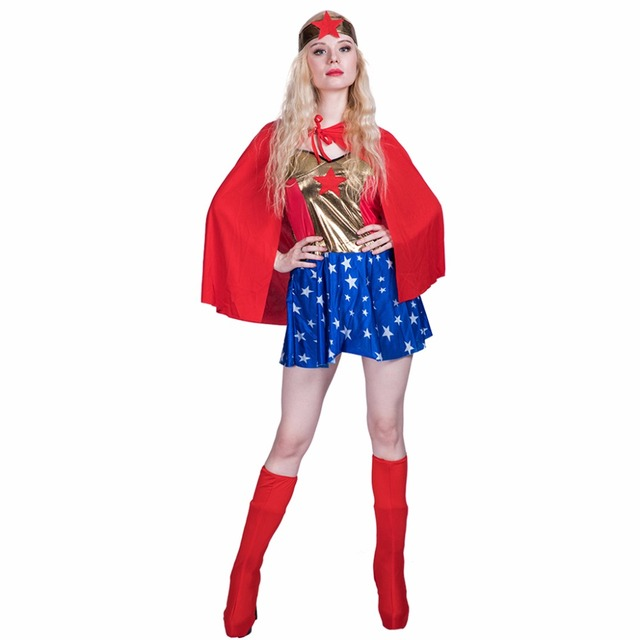 2017 Wonder Woman Cosplay Justice League Supergirl Cosplay ...