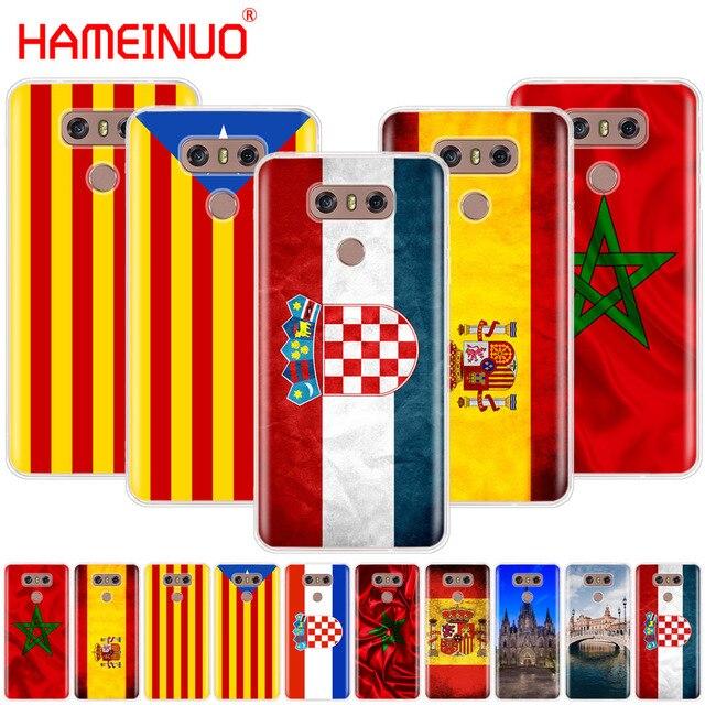 HAMEINUO các Tây Ban Nha Morocco Croatia sáng cờ điện thoại che đối VỚI LG G7 Q6 G6 MINI G5 K10 K4 K8 2017 2016 X POWER 2 V20 V30 2018