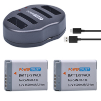 2Pcs NB 13L 1500mAh NB 13L NB13L Battery + Dual USB Charger for Canon PowerShot G5 X G5X G7 X Mark II G7X G9 X G9X SX720 HS