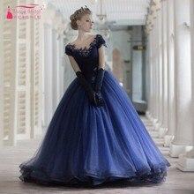 Marineblau Pailletten Prom Kleider Ballkleid Pailletten Bling Bling Plus Größe Junge Dame Formales Abend-abschlussball-kleider Roten Kleid heißer