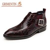 Бренд grimentin мужские ботинки лакированная крокодилья кожа стиль 2019 новые дизайнерские модные мужские полусапожки для обуви мужская обувь