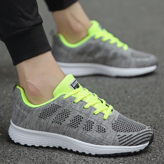 Tennis Shoes For Women 2019 Fashion Casual Shoes Lace-Up Breathable Mesh Round Cross Strap Flat Sneakers Calzado Deportivo Mujer 5