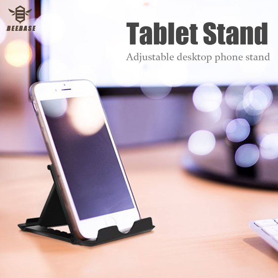 BEEBASE Universal Desk Phone Holder For Samsung stand samsung S9 iphone 6 7 X Foldable Adjustable phone