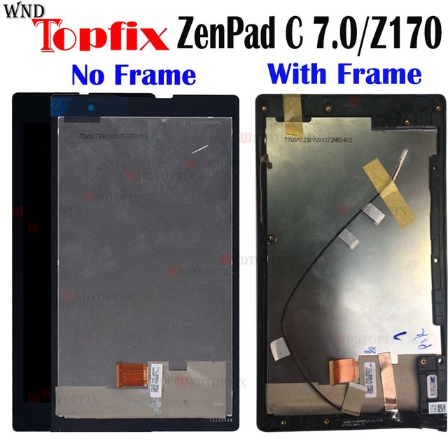 "7.0""Inch Tested Original LCD For Asua ZenPad C 7.0 Z170 Z170C Z170CG LCD Display Touch Screen Digitizer Assembly LCD Replacement"