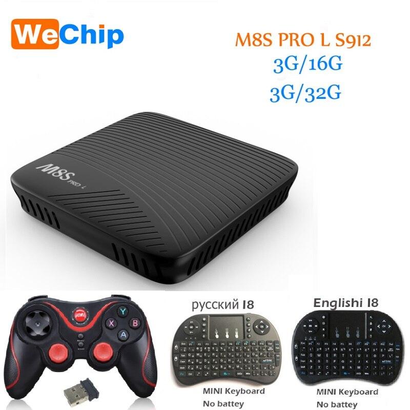 WeChip M8S PRO L tv box 3G 16G 3G 32G S912 64 bit Octa core