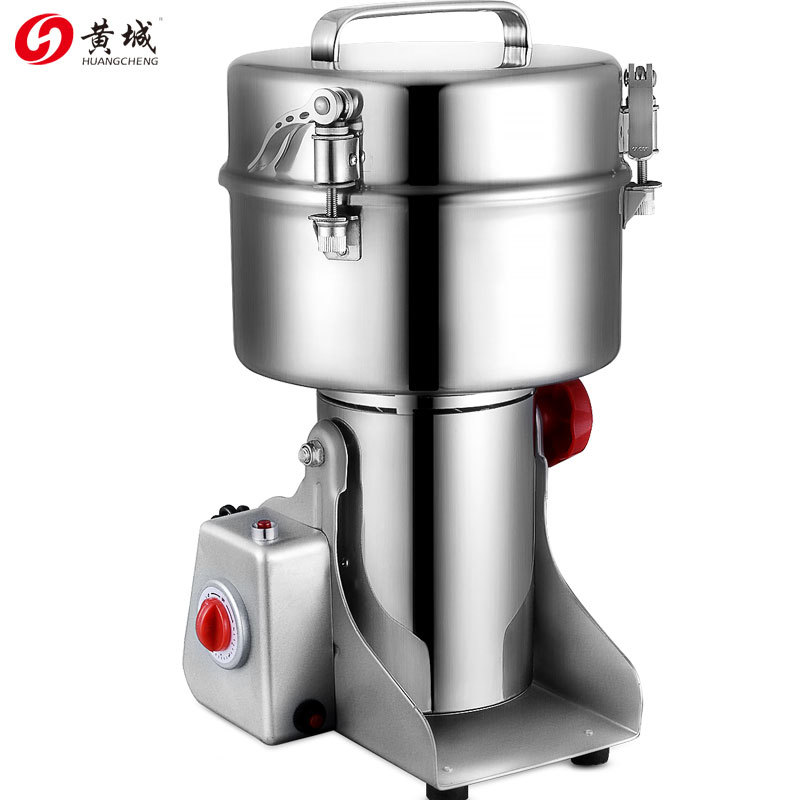 Large Multifunction Swing Type 2000g Portable Coffee Grinder 2KG Herb Flood Flour Pulverizer Food Mill Grinding Machine