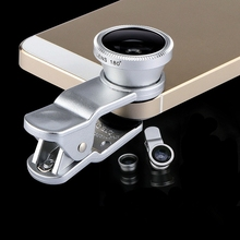 For samsung galaxy A3 A5 A7 A8 fisheye macro wide angle 3 in 1 universal clip mo