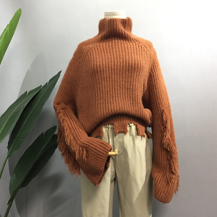 Jumper Rushed Cotton Full In The Spring Of 2018 New Womens Sweaters A Head Of Thick Fringe For Edges Cut Womens Personality