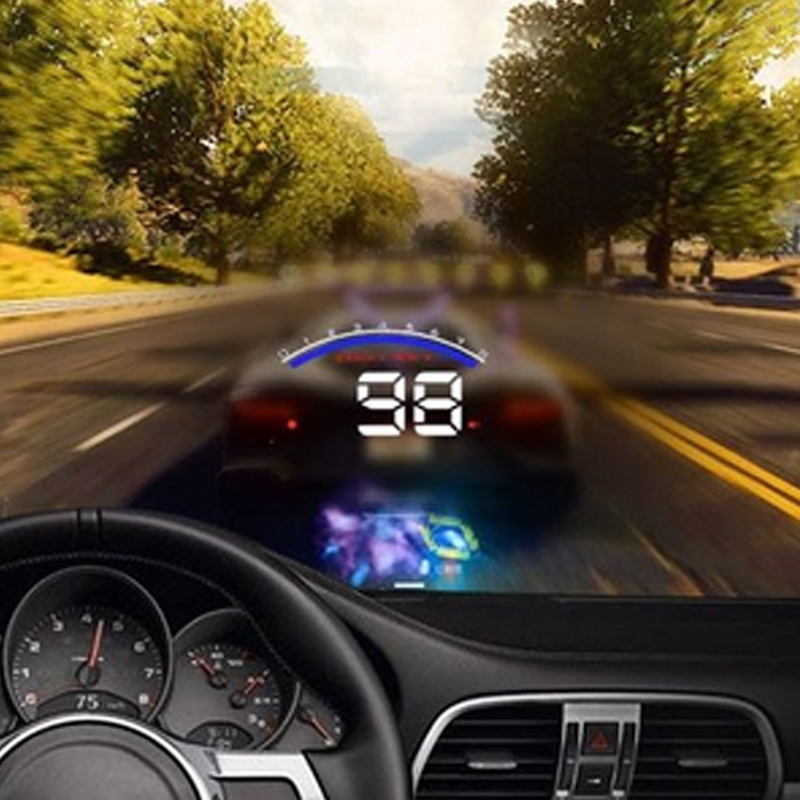 Car Head Up Display HUD-M6 Windscreen Projector Smart Security System HD Car Alarm Detector Real Time Speedometer DXY88