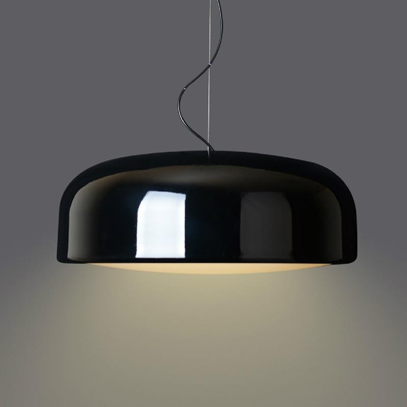 Nordic Minimalism модерна кръгла висулка светлина, черно / бяло висулка висулка лампа, за ресторант дневна стая проучване Бар и др.
