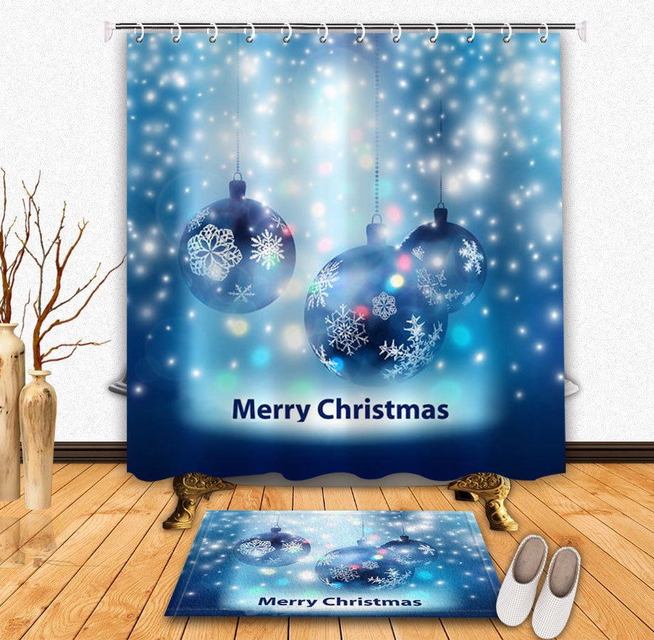 Christmas Ornament Balls Ribbon Snowflakes Holiday Shower