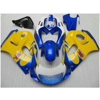 Carenagem fit kit para SUZUKI GSXR600 GSXR750 1996-2000 Azul carenagem amarela SRAD GSXR 600 750 96 97 98 99 00 carroçaria FVF53