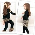 Baby Girl Long Sleeve Winter Dress Sweet Children\'s Leopard Patchwork Warm Dress
