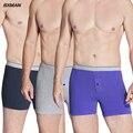 Bxman malha de algodão de alta qualidade sexy men boxer shorts underwear clássico dos homens cuecas homens roupa íntima 3 peças/lote