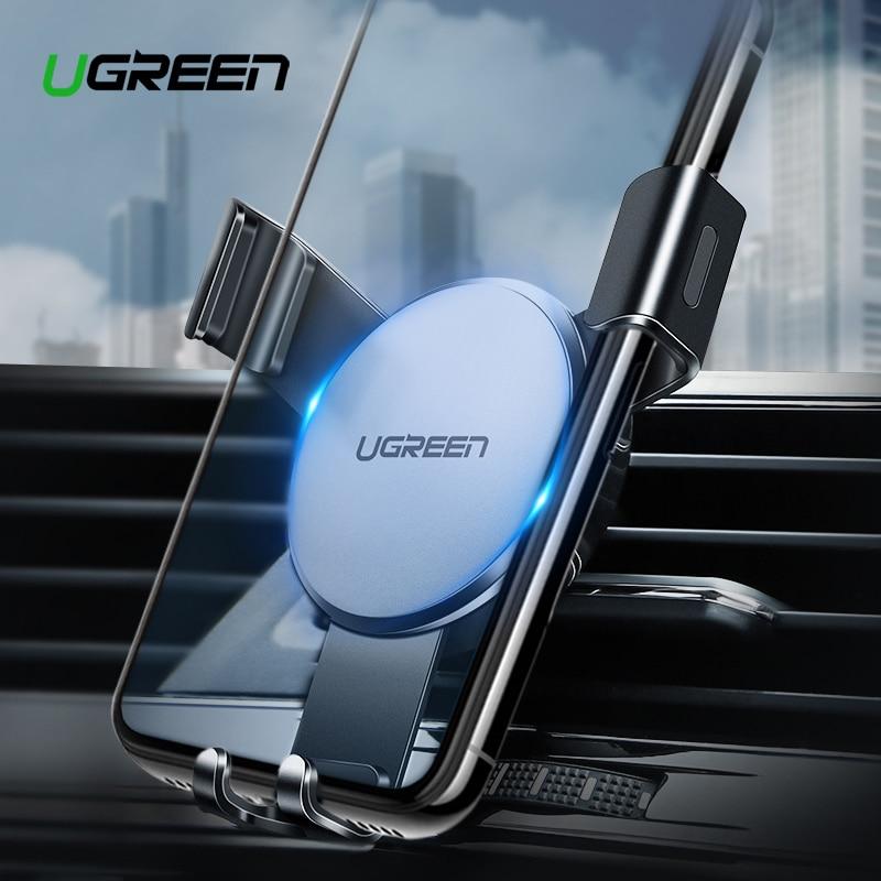 Ugreen sostenedor del teléfono del coche para iPhone X Xs 8 7 Montaje de ventilación de aire de Metal del teléfono móvil agarre soporte para teléfono soporte de teléfono móvil