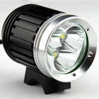 4000 Lumens 3x XM-L T6 LED ไฟหน้า 3T6 ไฟหน้าจักรยานจักรยานกันน้ำ + แบตเตอรี่ฟรี