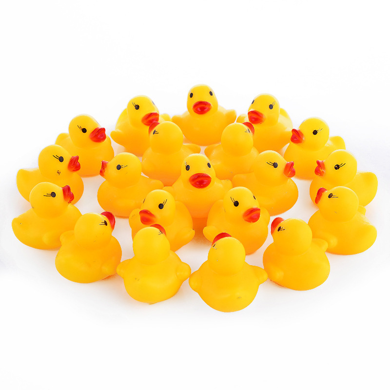 100 Pcs/lot Kawaii Baby Floating Squeaky Rubber Ducks Kids Bath Toys for Children Boys Girls Water Swimming Pool Fun Playing Toy100 Pcs/lot Kawaii Baby Floating Squeaky Rubber Ducks Kids Bath Toys for Children Boys Girls Water Swimming Pool Fun Playing Toy