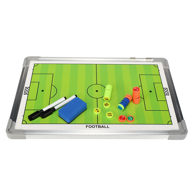TOP!-Portable Football Tactic Board Training Guide Double Sided Magnetic Tactic Board With Magnetic Rewritable Tactic Board