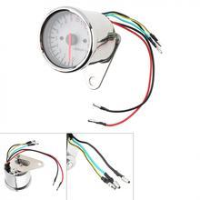 Универсальный 1,6 W 12V мотоциклов Тахометр тип указателя белый ретро светодиодный индикатор светильник магнитной индукцией двойной пройденное расстояние в милях