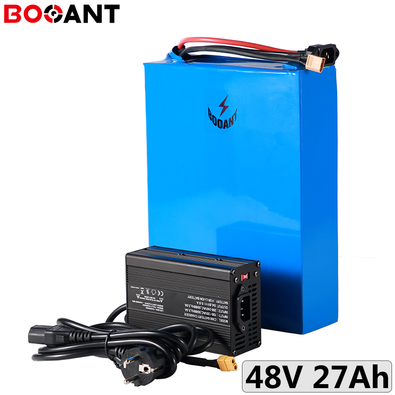 For 32650 cell 48V 27Ah rechargeable battery for Bafang BBS03 500W 750W 1000W motor 48V electric bike battery with 5A Charger