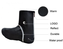 Cycling Shoe Cover Thermal Fleece Over Shoe Neopren SBR Fabric Thicken Windproof Waterproof Bike Bicycle Lock Shoe Covers