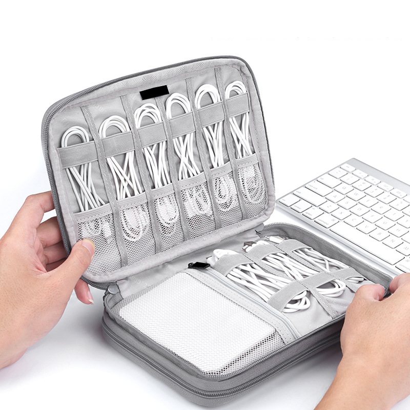 Digital Gadget Pouch Charger Wire Electronic Organizer Tote Men Travel Cable Bag Cosmetic Kit Case Wardrobe Supplies Accessories