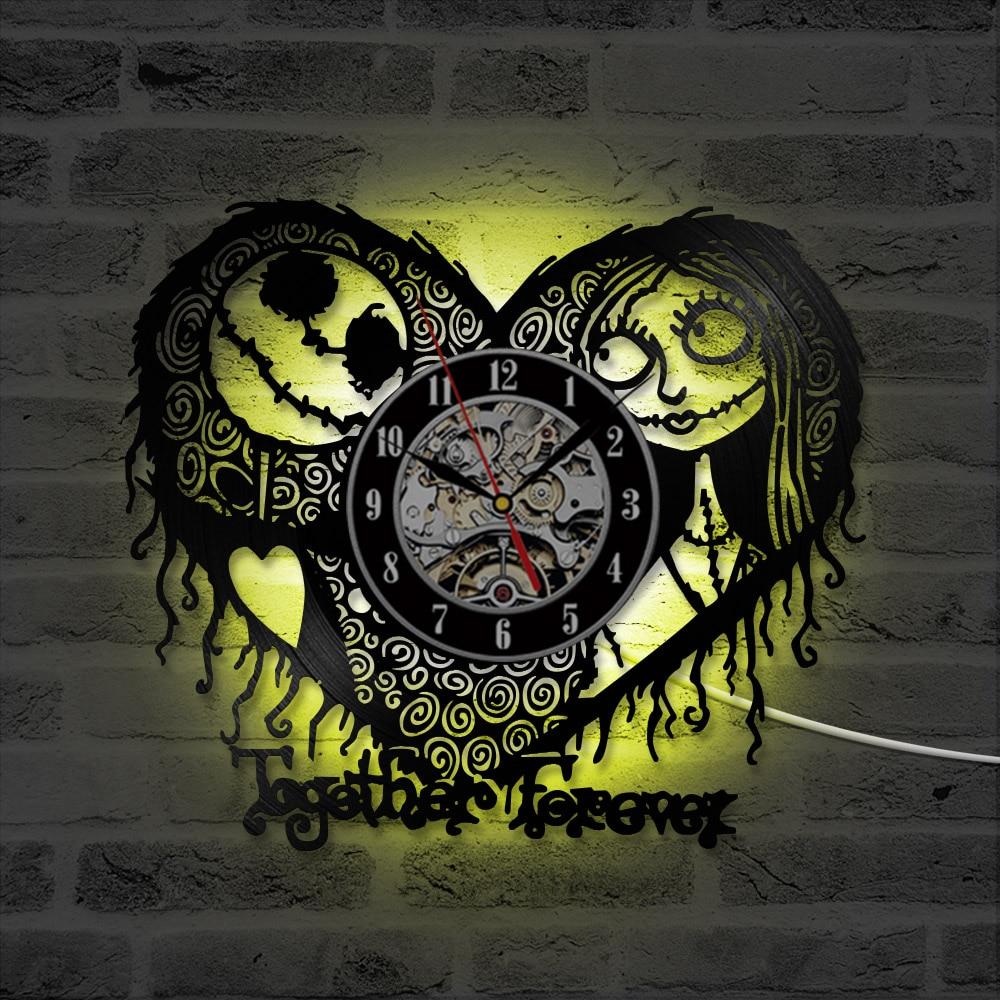 Nightmare Before Christmas Theme Heart Design LED Vinyl Record ...