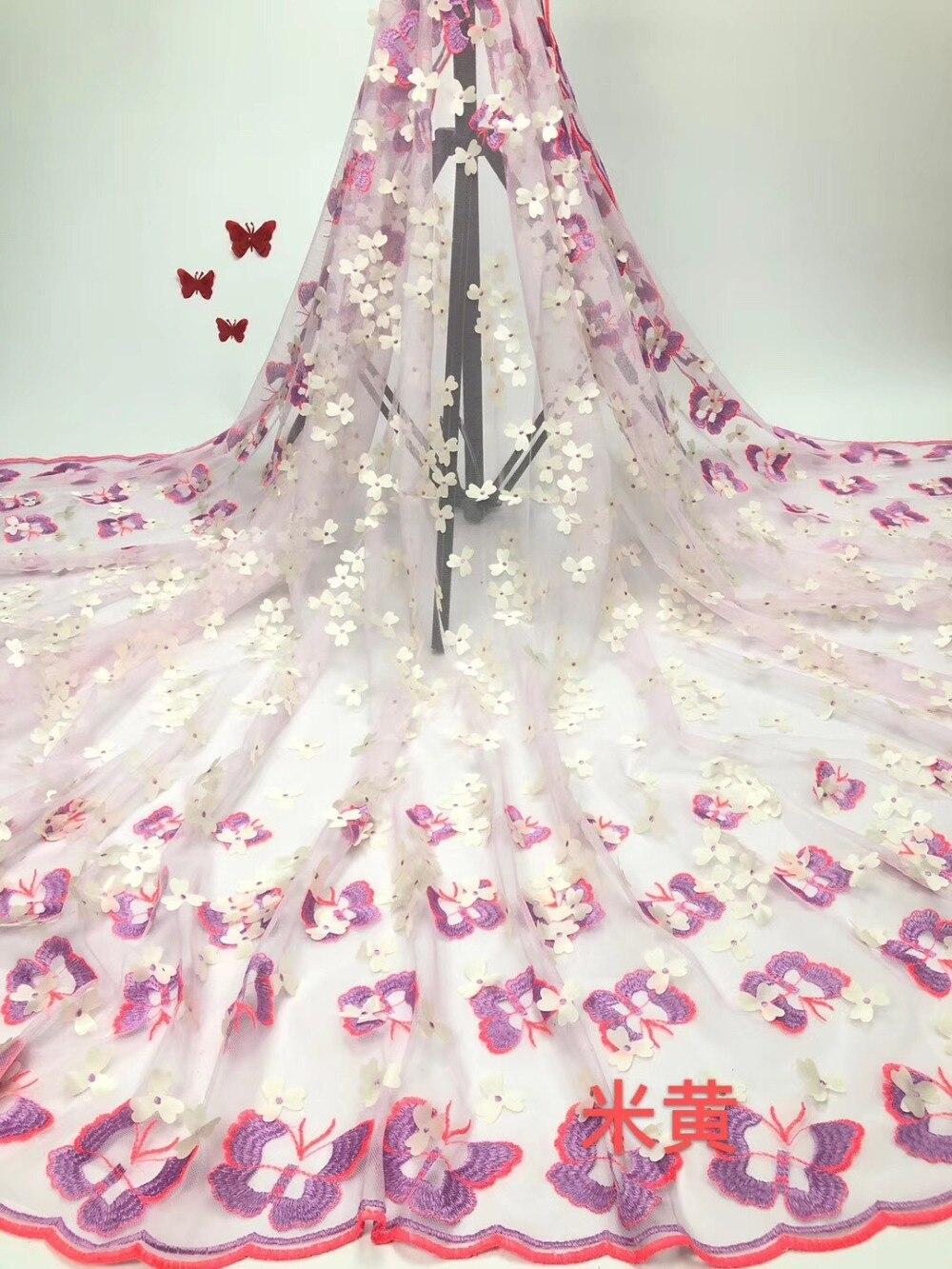 Nouveauté tissu de dentelle française de mariée/beau tissu de dentelle africaine pour les robes de mariée