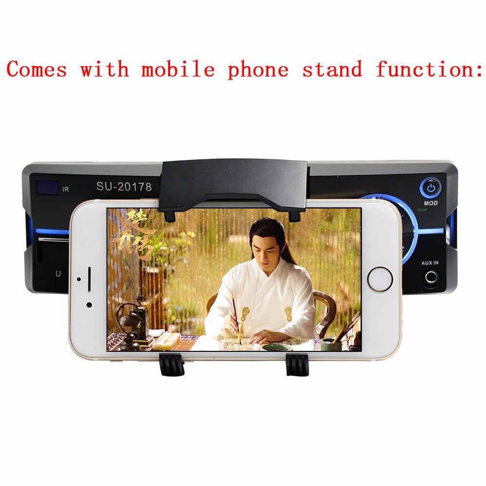 Podofo 1 Din カーラジオの自動オーディオステレオ MP3 Bluetooth FM AUX USB インダッシュカー Autoradio プレーヤーリモート制御電話の充電