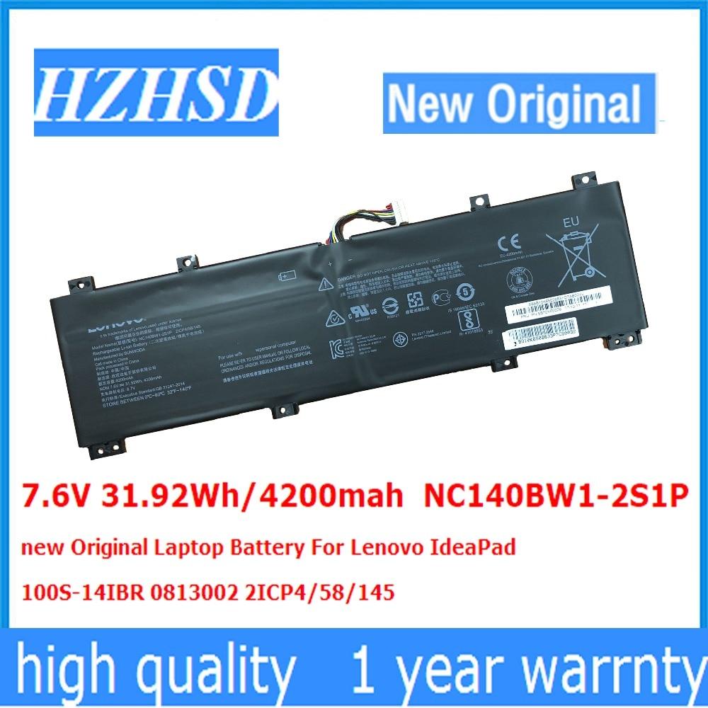 7.6 V 31.92Wh/4200 mah NC140BW1-2S1P nouveau Original batterie d'ordinateur portable Pour Lenovo IdeaPad 100S-14IBR 0813002 2ICP4/58/145