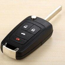 цена на 4Buttons Car Replacement Folding Flip Remote Key Case Shell For Chevrolet Camaro Cruze Equinox Malibu Sonic Spark Volt Entry Fob