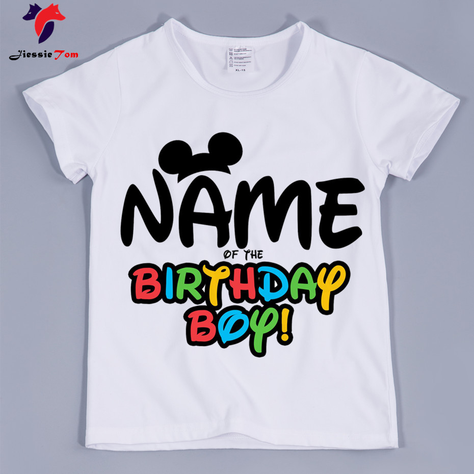 Boys Your Name of Birhtday Boy Letter Print Custom DIY Your Name T-shirts ...
