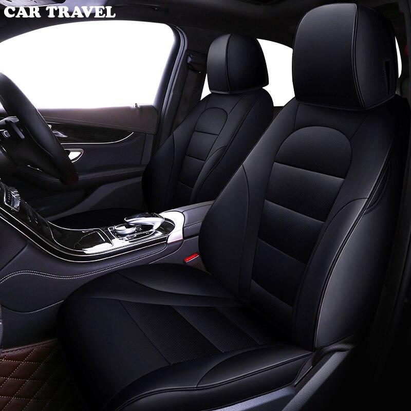 CAR TRAVEL Custom leather car seat cover for Toyota Corolla Camry Rav4 Auris Prius Yalis Avensis