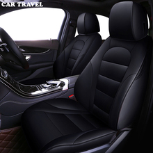 Carro de viagem personalizado couro capa de assento do carro para toyota corolla camry rav4 prius yalis suv acessórios do carro varas assento carros