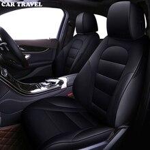 Housses de siège de voiture en cuir personnalisées, couvre siège de véhicule, pour Toyota Corolla Camry Rav4 Prius Yalis SUV, accessoire de voyage, bâtons