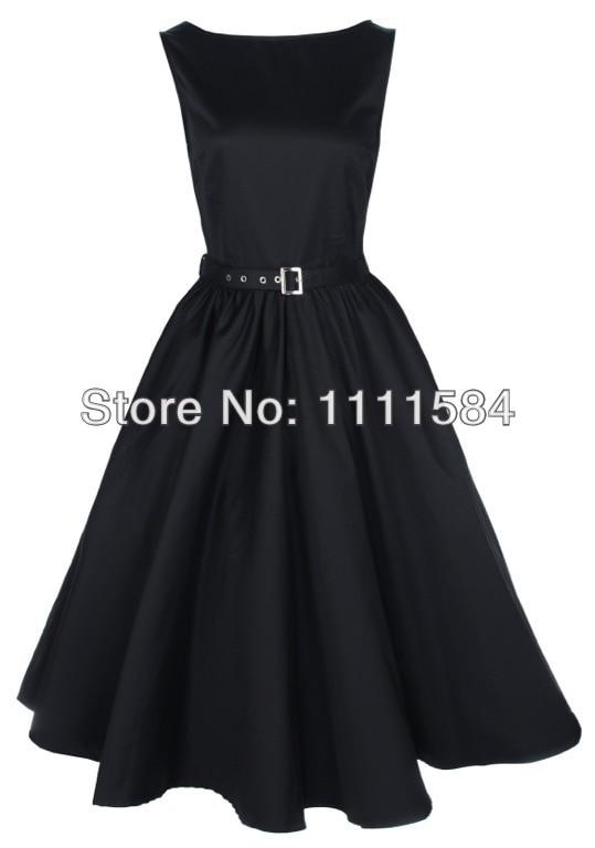 free shipping Vintage Style Retro Rockabilly 50er 60er Jahre Petticoat Polka Dot Kleid Dresses