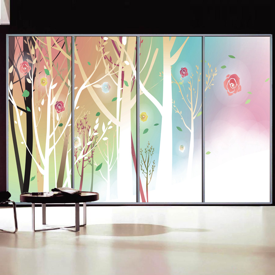 Popular wardrobe doors sliding buy cheap wardrobe doors for Door mural decals