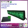 32 * 96 пикселей p10 один зеленый внутренняя реклама знак из светодиодов прокрутки для сообщения из светодиодов экран на сцене электронное табло