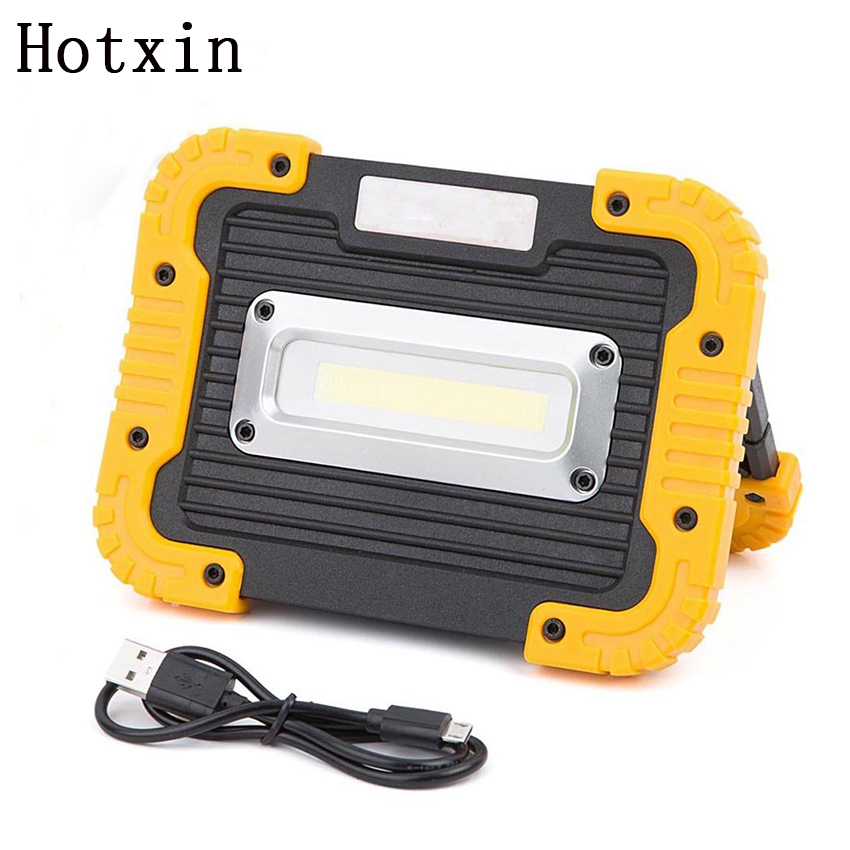 20W Portable Rechargeable COB Camping Car Lamp Work Light Outdoor Waterproof Floodlight Flashlight Hiking Tent Lamp Searchlight portable cob led work light waterproof outdoor usb rechargeable lamp searchlight vehicle maintenance emergency camping lamp