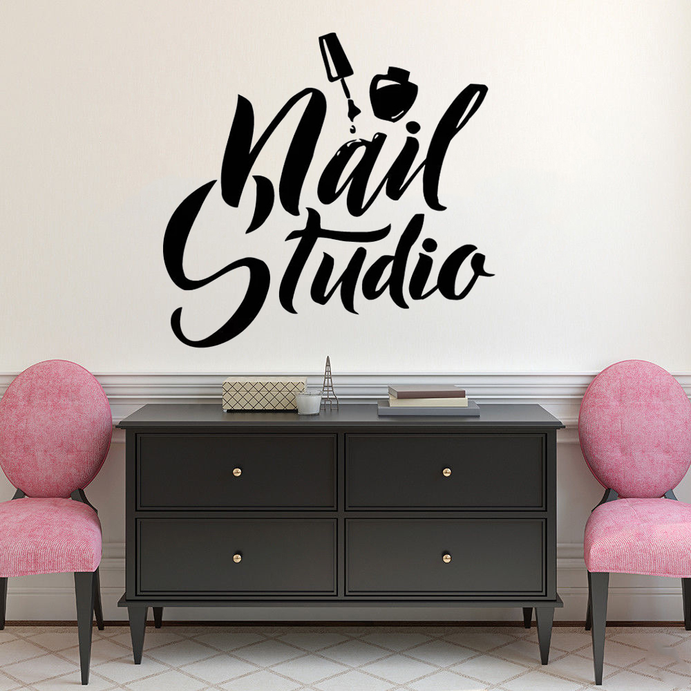 Nail Art Polish Wall Sticker Beauty Salon Decor Manicure Pedicure